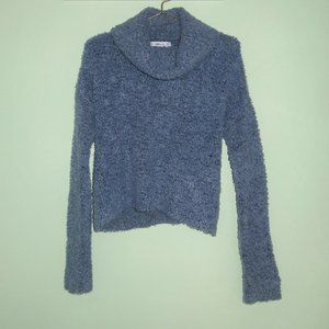 NWOT Zara Knit Boucle Popcorn Cowl Neck Sweater